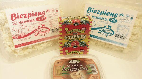 Tagad Straupes sviests, biezpiens un kaņepju sviests arī RIMI